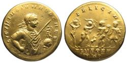 "Licinius II AV ""gold"" medallion - 4 Seasons - BMC Electrotype"