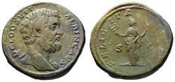 Ancient Coins - Clodius Albinus AE sestertius - FELICITAS - Superb portrait