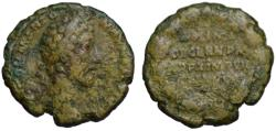 Ancient Coins - Commodus AE As - PRIMI DECENN - Very scare  185 AD