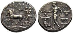 Ancient Coins - 19th C. BMC electrotype - Selinos AR tetradrachm - River God