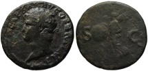 Ancient Coins - Nero AE As - VICTORY reverse - Lugdunum mint