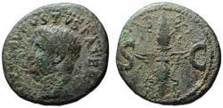 Ancient Coins - Divus Augustus Pater AE dupondius - Winged Thunderbolt - under Tiberius