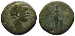 Ancient Coins - Clodius Albinus AE sestertius - MINERVA - Scarce