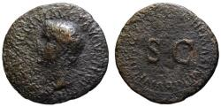 Ancient Coins - Tiberius AE As - Large SC