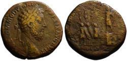 Ancient Coins - Commodus AE sestertius - FID EXERCIT - (R) Rare