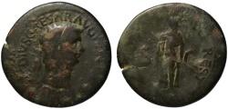 Ancient Coins - Claudius AE sestertius - SPES - Rare restitution under Titus