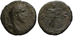 Ancient Coins - Antoninus Pius AE As - MINERVA - 141-143 AD