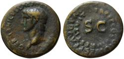 Ancient Coins - Germanicus AE As - Double legend around SC - Restitution by Titus - Rare