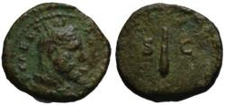 Ancient Coins - Trajan AE quadrans - Hercules & Club - VF
