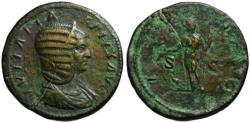 Ancient Coins - Julia Domna AE sestertius - JUNO - under Caracalla