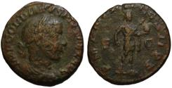 Ancient Coins - Gordian III AE As - Emperor with Spear & Globe - aVF