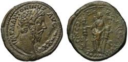 Ancient Coins - Marcus Aurelis AE sestertius - CONCORDIA EXERCITUM - Heavy medallic flan
