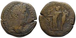 Ancient Coins - Commodus AE sestertius - MINER VICT - (R) Rare