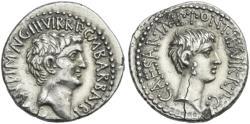 Ancient Coins - Mark Antony & Octavian AR denarius - Superb EF