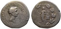 Ancient Coins - Octavian Augustus AR cistophoric tetradrachm - PAX - Ephesus mint