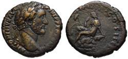 Ancient Coins - Antoninus Pius AE As - BRITANNIA - Rare gVF