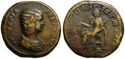 Ancient Coins - Julia Domna AE sestertius - MAT AVGG MAT SEN M PATR - Rare (R)