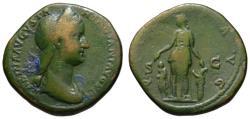 Ancient Coins - Sabina AE As or Dupondius - PIETAS with children - Rare