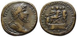 Ancient Coins - Lucius Verus AE sestertius - REX ARMENIIS DATVS - Rare King Sohaemus