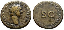 Ancient Coins - Domitian AE dupondius - CENSOR PERPETUUS - Very Rare