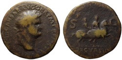 Ancient Coins - Nero AE sestertius - DECVRSIO - 36mm