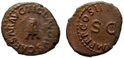 Ancient Coins - Claudius AE quadrans - Modius - 42 AD