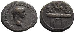 Ancient Coins - Claudius AR denarius - DE BRITANN arch - Very Rare R3  / VF