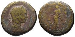 Ancient Coins - Elagabalus AE sestertius - LIBERTAS - 219 AD