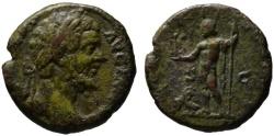 Ancient Coins - Septimius Severus AE As - nude JUPITER - Very Rare