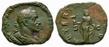 Ancient Coins - Trebonianus Gallus AE sestertius - AETERNITAS  Phoenix on Globe - Very Scare