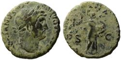 Ancient Coins - Hadrian AE As or Dupondius - MINERVA - Lovely earthy patina