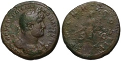 Ancient Coins - Hadrian AE As - PAX reverse - Great portrait