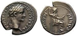Ancient Coins - Tiberius AR denarius - Livia as Pax - EF & Wonderful finest style portrait