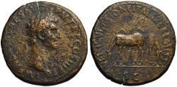 Ancient Coins - Nerva AE sestertius - VEHICVLATIONE ITALIAE REMISSA Mules - Rare