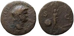 Ancient Coins - Nero AE As - VICTORY - Lugdunum mint