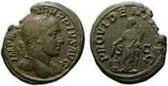 Ancient Coins - Alexander Severus AE As - PROVIDENTIA - Good VF