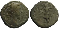 Ancient Coins - Marcus Aurelius AE dupondius - ROMA - 173-174 AD