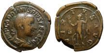 Ancient Coins - Gordian III AE sestertius VIRTUS AUG - 35mm medallic full flan