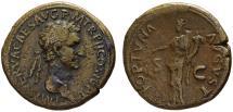 Ancient Coins - Nerva AE sestertius - FORTUNA  35mm  28.22gm