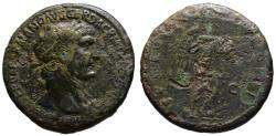 Ancient Coins - Trajan AE sestertius - VIC DAC shield on palm tree