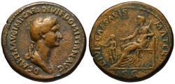 Ancient Coins - Paduan cast medal afer Cavino - DOMITIA sestertius - DIVI CAESARIS MATER