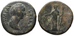 Ancient Coins - Diva Faustina Senior AE sestertius - CERES