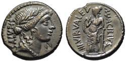Ancient Coins - Acilius Glabrio AR denarius - SALUS - Choice EF