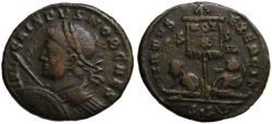 Ancient Coins - Crispus AE follis - VIRTUS EXERCIT captives VOT X - (R) Rare