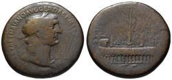 Ancient Coins - Trajan AE sestertius - The CIRCUS MAXIMUS - Very Rare