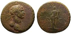 Ancient Coins - Trajan AE sestertius - FELICITAS AUGUST - Large and heavy flan