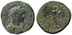 Ancient Coins - Elagabalus AE sestertius - INVICTUS SACERDOS AUG - Rare (R)