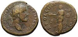 Ancient Coins - Antoninus Pius AE sestertius - APOLLINI AUGUSTO - Scarce