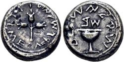 Ancient Coins - Antique electrotype of a Jewish War AR shekel - Good VF