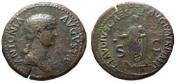 Ancient Coins - Antonia AE dupondius - under Claudius - Scarce VF 30.5mm